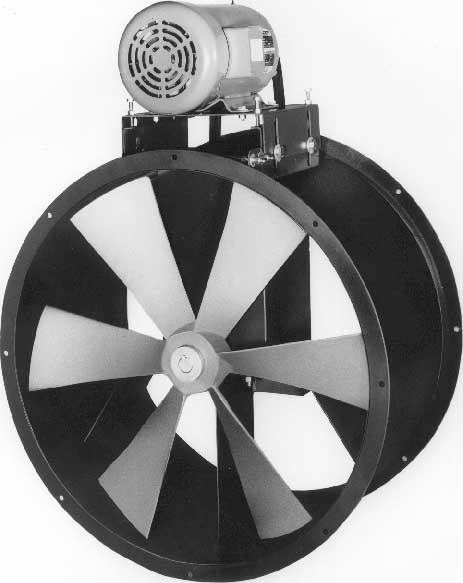 Paint Booth Axial Exhaust Fans : Paint booth duct fan replacement carl j bush company