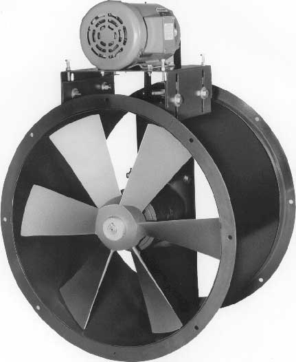Tube Axial Duct Fans For High Moisture Steam And High