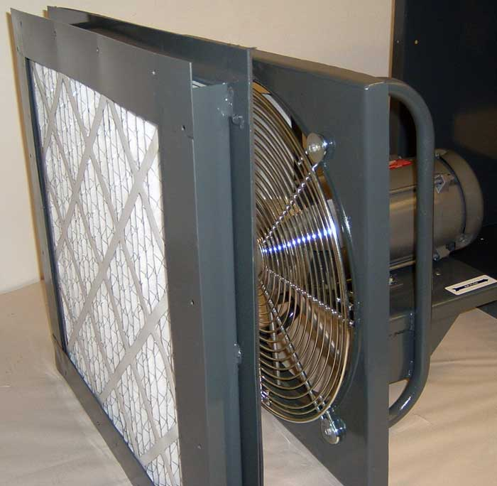 Model Caf 920 Filtered Wall Fan5 Carl J Bush Company