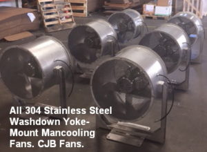 Stainless Steel Wall and Column Mounting Man Cooling Fans