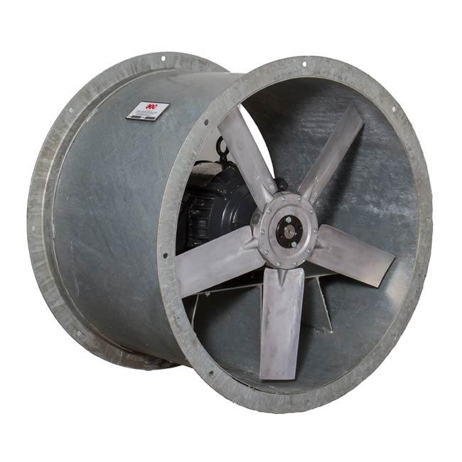 Galvanized Steel Duct Fans Ocean Vessel Salt Corrosion