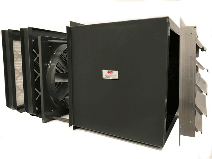 Caf 900 Carbon Paint Booth Wall Exhaust Fans With Merv 8